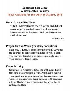 discipleship focus handout 4:26